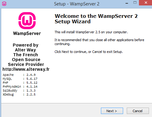 How you can install wampserver on you systems.