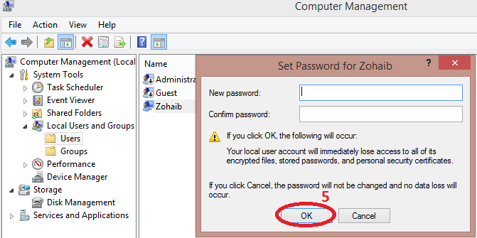 How to change the windows Users password without knowing old password!