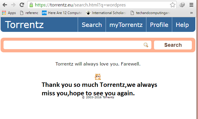 Torrentz.eu is shutdown for ever.