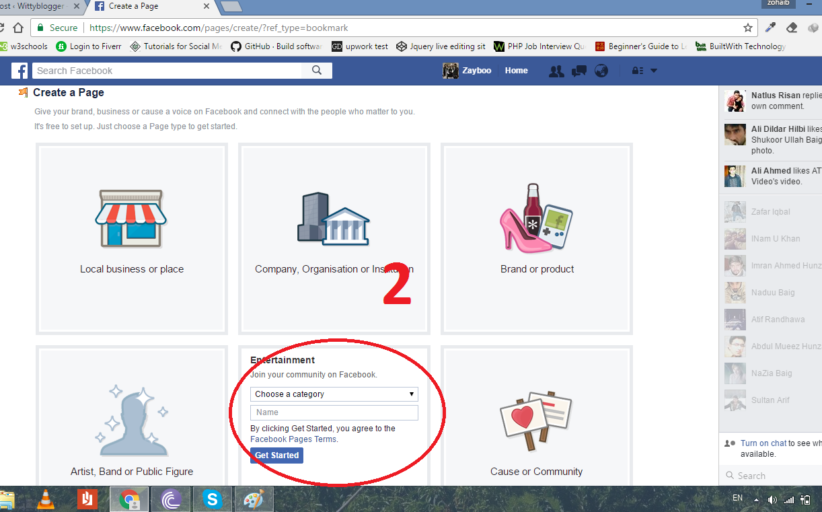 How to create Facebook page